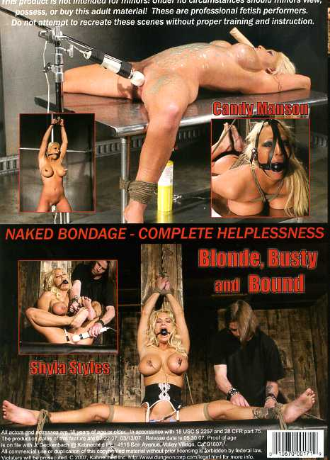 Blonde, Busty & Bound
