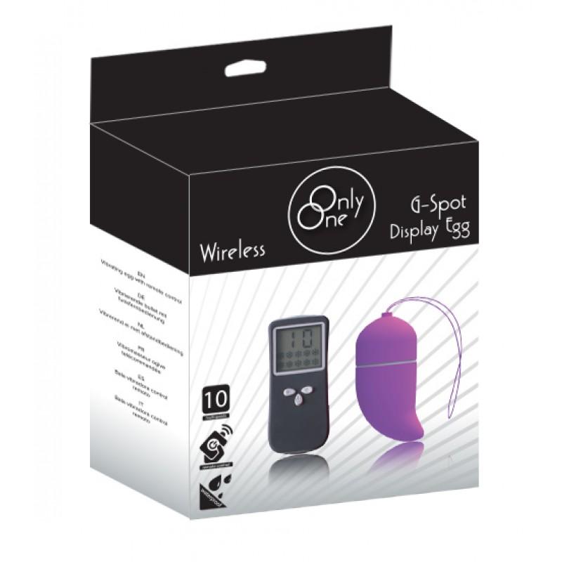 Vibrating Display G-Spot Egg - Purple