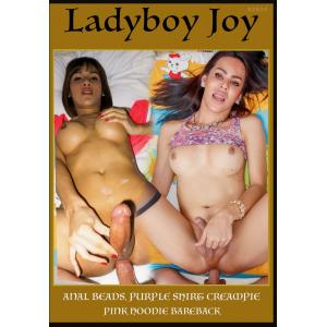 Ladyboy Joy - Joy Anal Beads Purple Shirt Creampie