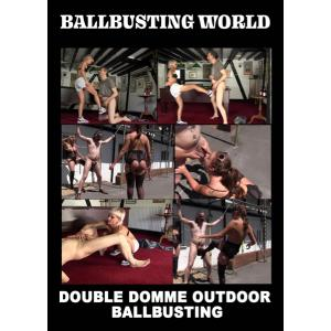 Ballbusting World - Double Domme Outdoor Ballbusting