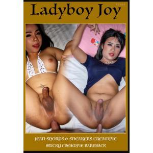 Ladyboy Joy - Jean Shorts & Sneakers Creampie