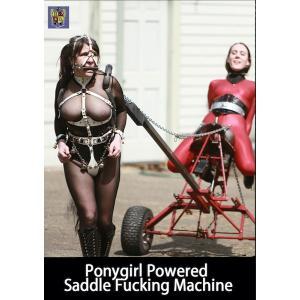 Ponygirl Powered Saddle Fucking Machine