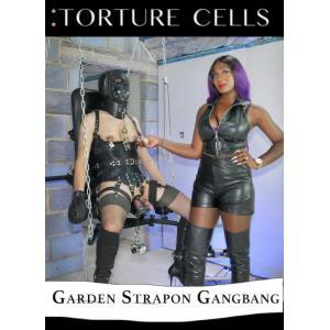 Torture Cells - Garden Strapon Gangbang