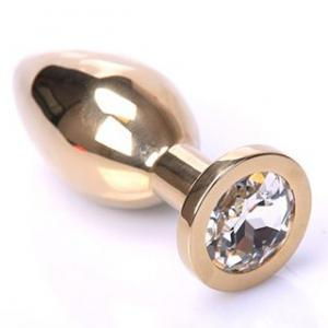 Buttplug Gold - Clear - Large